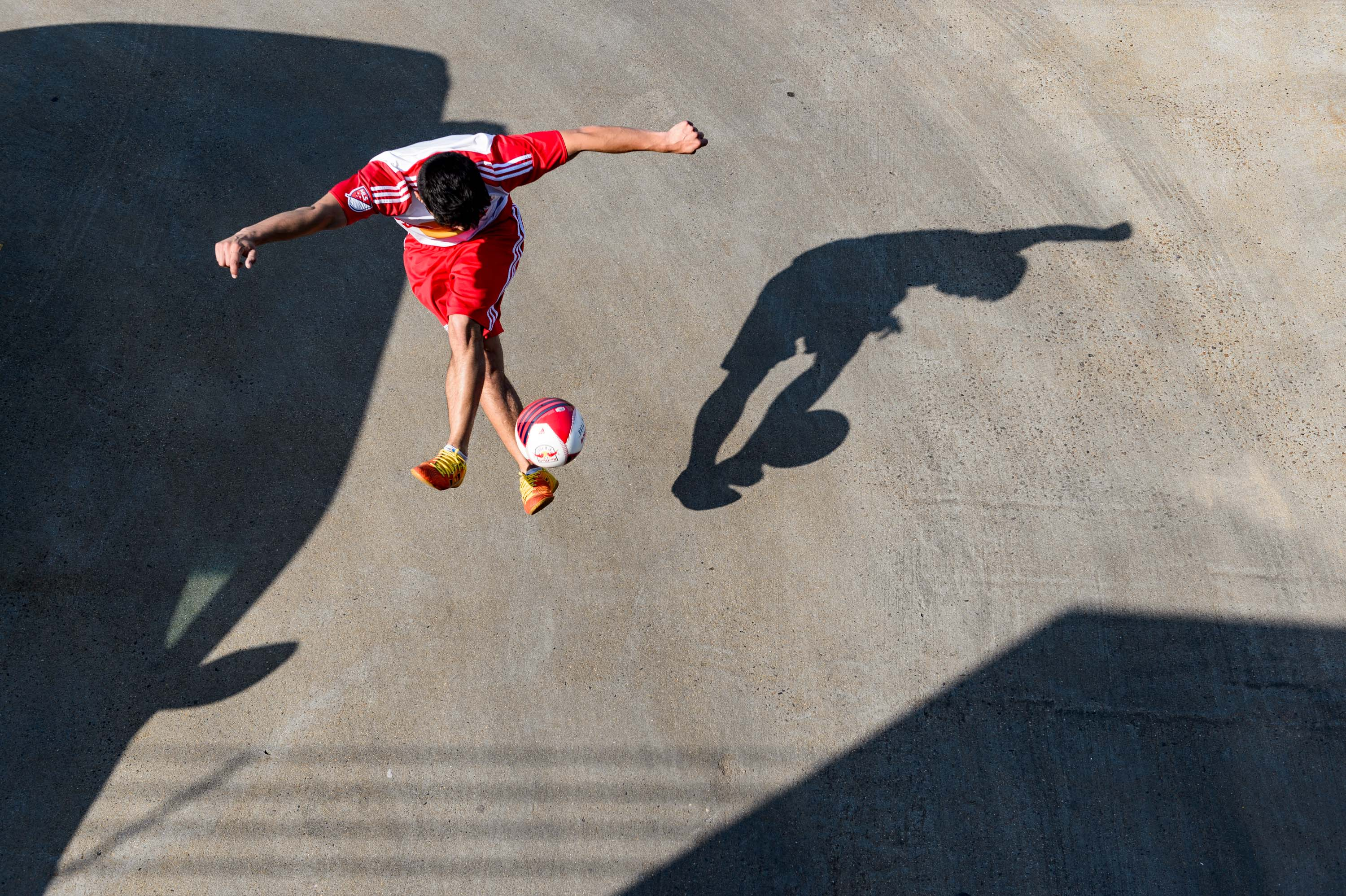 Freestyle Soccer for The New York Red Bulls  - Greg Mionske - Advertising and Editorial Photographer in Denver