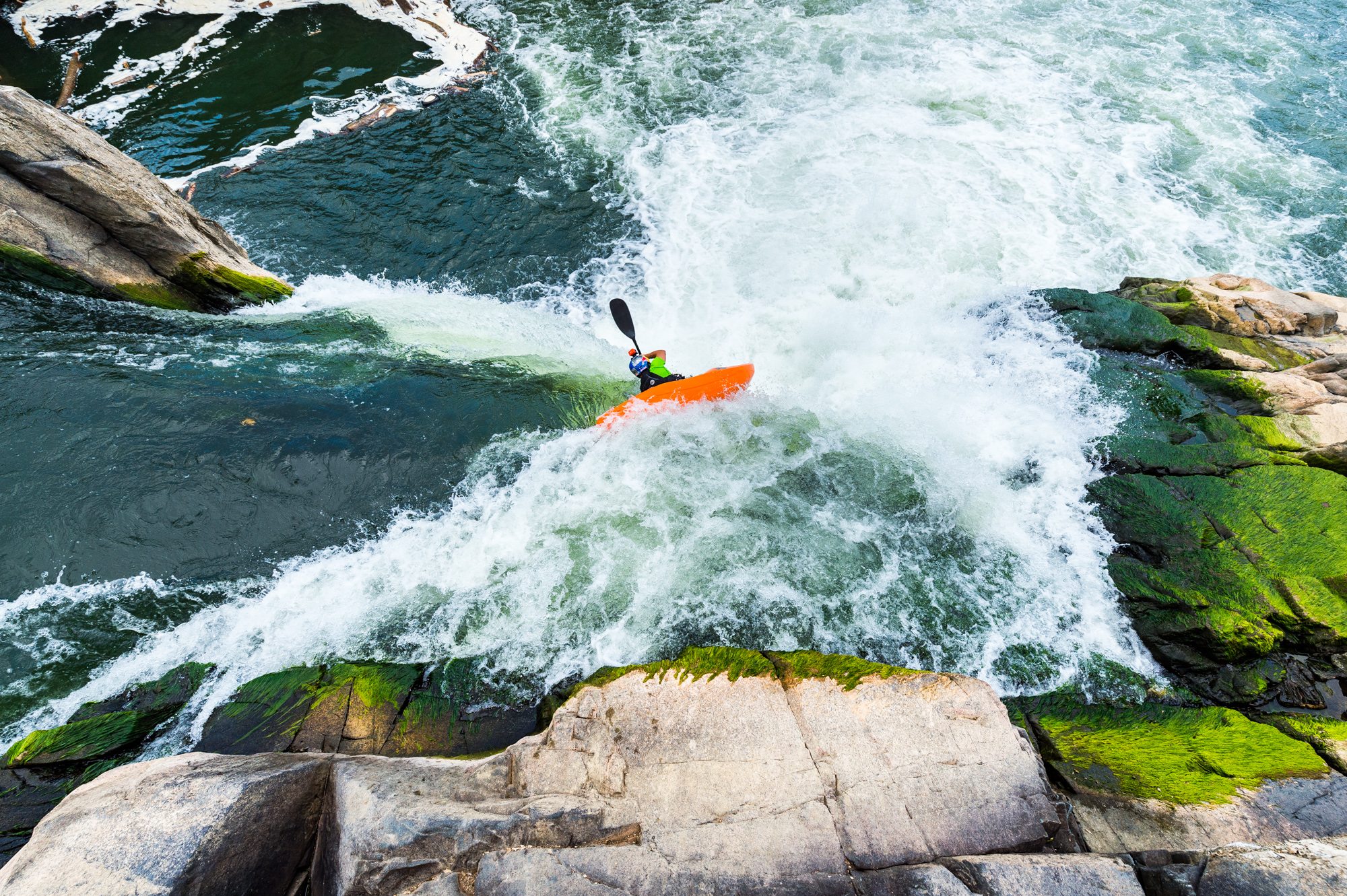 Rafa Ortiz Kayaking near Washington D.C. - Greg Mionske - Advertising and Editorial Photographer in Denver