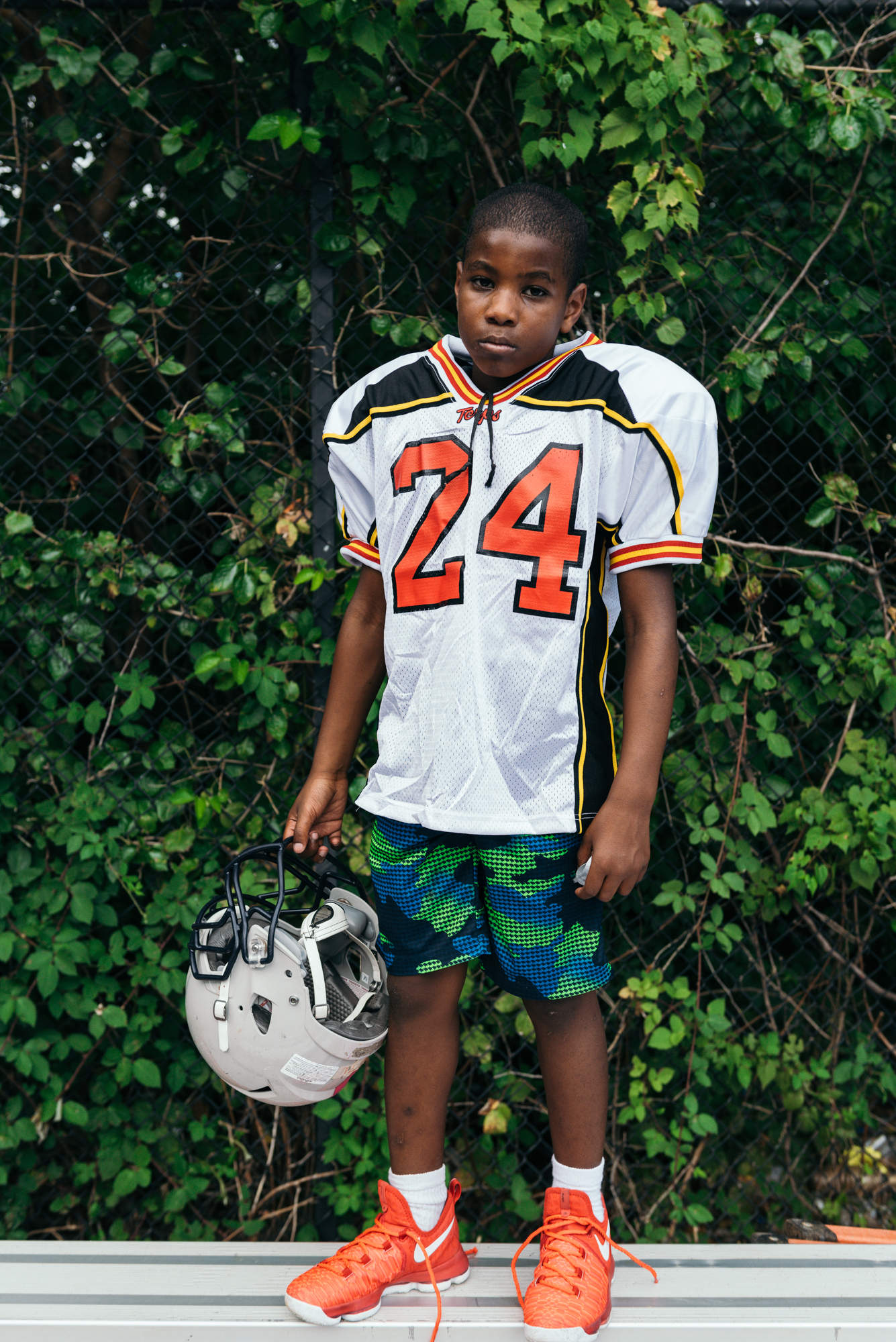 Portrait of Youth Football Player  - Greg Mionske - Advertising and Editorial Photographer in Denver